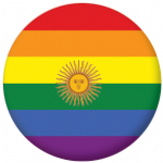 Argentina Gay Pride Flag 25mm Button Badge